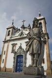 Prophet Joel. In front of the church Basilica do Senhor Bom Jesus de Matosinhos in Congonhas do Campo, Minas Gerais, Brazil Stock Photography