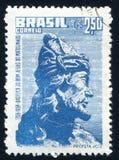 Prophet Joel printed by Brazil. BRAZIL - CIRCA 1958: stamp printed by Brazil, shows  Prophet Joel, circa 1958 Stock Image