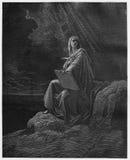 Prophet John auf Patmos lizenzfreie abbildung
