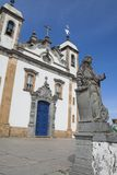 Prophet Jonas and the Church Bom Jesus de Matosinhos Stock Photography