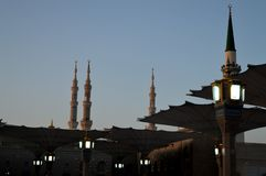 Prophet Muhammad Mosque In Madinah. Al-Masjid An-Nabavi. Great Islamic mosque in Saudia Arabia. stock images