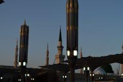 Prophet Muhammad Mosque In Madinah Al-Masjid An-Nabavi Gro?e islamische Moschee in Saudia Arabien stockfotos