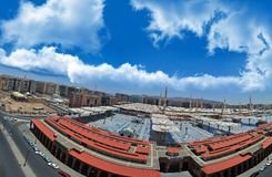Prophet's Mosque in Medina with blue sky Stock Photo