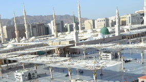 Prophet's Mosque in Medina time lapse at afternoon with moving camera stock video