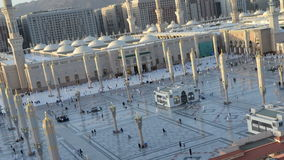 Prophet's Mosque in Medina time lapse from afternoon to sunset stock video footage