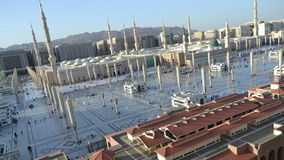 Prophet's Mosque in Medina time lapse from afternoon to sunset stock footage