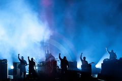 Prophets of Rage music band perform in concert at Download heavy metal music festival. MADRID - JUN 24: Prophets of Rage music band perform in concert at Stock Photography