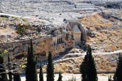 The prophets revenge tomb of Zechariah. In the Kidron Valley in Jerusalem Royalty Free Stock Images