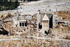 The prophets revenge tomb of Zechariah. In the Kidron Valley in Jerusalem Royalty Free Stock Image