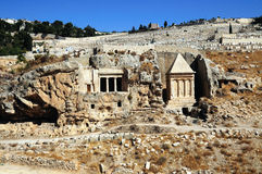 The prophets revenge tomb of Zechariah. In the Kidron Valley in Jerusalem Royalty Free Stock Photography