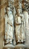 Prophets - Santiago de Compostela. Statues of two minor Prophets in the Gloria portal (Portico de la Gloria) of the Santiago de Compostela Cathedral Stock Photos