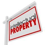 Propiedad intelectual para el origen de la autorización de la publicidad de la muestra de la venta ilustración del vector