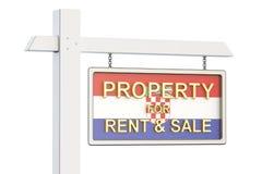 Propiedad para la venta y alquiler en el concepto de Croacia Real Estate firma, Foto de archivo