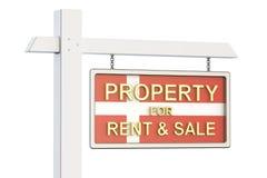 Propiedad para la venta y alquiler en el concepto de Dinamarca Real Estate firma, Foto de archivo libre de regalías
