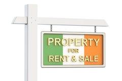Propiedad para la venta y alquiler en el concepto de Irlanda Real Estate firma, Fotografía de archivo