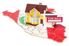 Propiedad para la venta y alquiler en el concepto de Perú Real Estate firma, 3D ilustración del vector