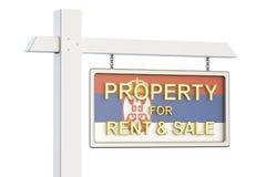 Propiedad para la venta y alquiler en el concepto de Serbia Real Estate firma, Imágenes de archivo libres de regalías