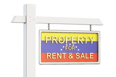 Propiedad para la venta y alquiler en el concepto de Venezuela Sig de Real Estate Imagenes de archivo