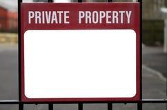 Propiedad privada Imagen de archivo