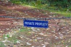 Propiedad privada fotos de archivo