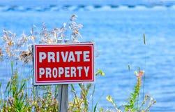 Propiedad privada Fotografía de archivo