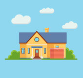 Propiedad privada de la construcción de viviendas de Real Estate Imagen de archivo