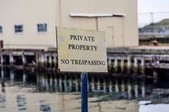 Propiedad privada ninguna violación Imagen de archivo libre de regalías