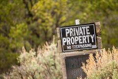 Propiedad privada Ninguna violación Foto de archivo