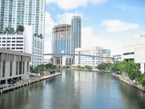 Propiedades horizontales del lujo de las propiedades inmobiliarias de Miami Fotos de archivo libres de regalías