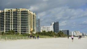Propiedades horizontales en Miami Beach almacen de video