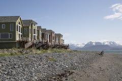 Propiedades horizontales privadas del centro turístico del extremo de las tierras, home run, Alaska Imagen de archivo
