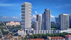Propiedades horizontales y hoteles en Singapur imagen de archivo