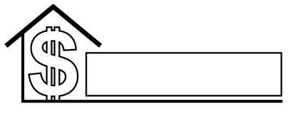 Propiedades inmobiliarias 2 de la insignia del Web page stock de ilustración