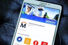Propiedades inmobiliarias app de Movoto Fotografía de archivo
