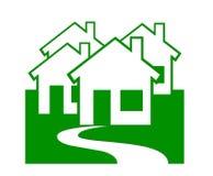 Propiedades inmobiliarias/casas Ilustración del Vector