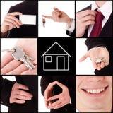 Propiedades inmobiliarias - collage Fotografía de archivo libre de regalías