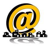 Propiedades inmobiliarias - compañía del email de la construcción libre illustration