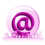 Propiedades inmobiliarias - compañía del email de la construcción ilustración del vector