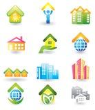 Propiedades inmobiliarias - conjunto del icono Fotografía de archivo libre de regalías