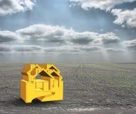 propiedades inmobiliarias de la casa del concepto 3D fotografía de archivo