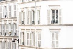 Propiedades inmobiliarias de París fotografía de archivo