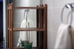 Propiedades inmobiliarias del cuarto de baño, detalles Imagen de archivo libre de regalías