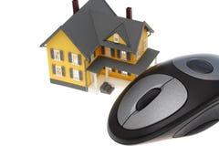 Propiedades inmobiliarias del Internet Imágenes de archivo libres de regalías