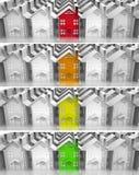 Propiedades inmobiliarias del mercado del líder de las banderas Foto de archivo