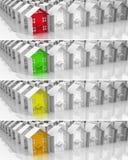 Propiedades inmobiliarias del mercado del líder de las banderas Imágenes de archivo libres de regalías