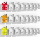 Propiedades inmobiliarias del mercado del líder de las banderas Fotos de archivo libres de regalías
