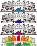 Propiedades inmobiliarias del mercado del líder de las banderas Fotografía de archivo
