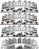 Propiedades inmobiliarias del mercado del líder de las banderas Imagen de archivo