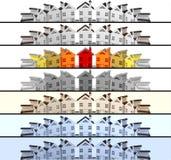 Propiedades inmobiliarias del mercado del líder de las banderas Imagenes de archivo
