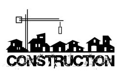 Propiedades inmobiliarias - empresa de la construcción libre illustration